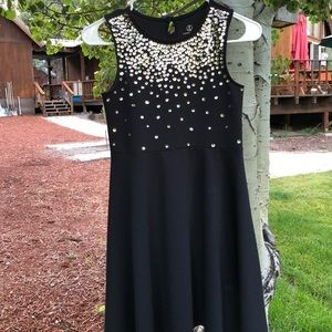 Lands' End Girl's Black with Sequin Dress